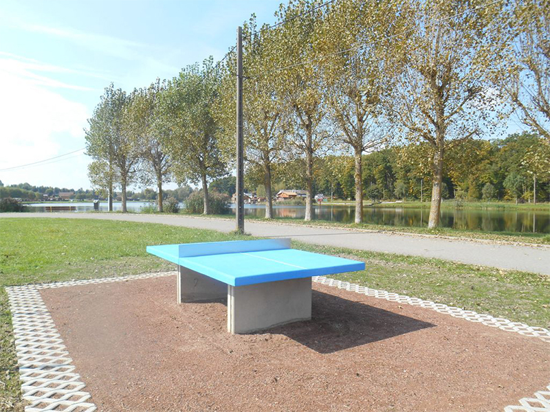 Table de ping pong plein air